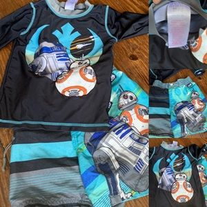 Star Wars 4T boys swimming trunks and shirt
